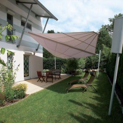 Bewegliches Sonnensegel Terrasse